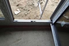 Balkontür mit Normaler Schwelle, unten Verbreiterung