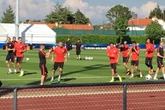 Polnisches National-Team beim Training im La Baule Trainingslager