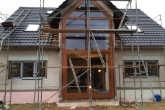 Aluminiumkonstruktion mit Holzbeschichtung